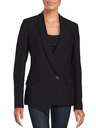 Brunello Cucinelli Asymmetrical Virgin Wool Blend Jacket Black