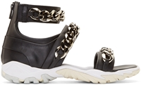 Givenchy Black Curb Chain Sport Sandals