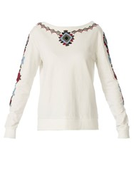 Red Soul Lovely Beaded Sweatshirt Off White