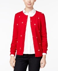 Tommy Hilfiger Marilyn Embellished Cardigan Only At Macy's Chili Pepper Multi