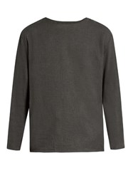 Christophe Lemaire Long Sleeved Cotton And Cashmere Blend T Shirt Dark Grey