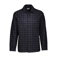 Hartford Jacinto Jacket Navy Grey Plaid