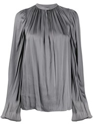 Rochas Satin Draped Blouse 60
