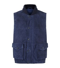 Peter Millar Suede Gilet Male Navy