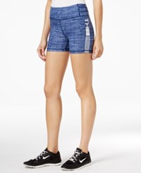 Tommy Hilfiger Sport Space Dyed Shorts A Macy's Exclusive Blue Crosshatch