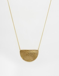 Made Half Moon Necklace Gold