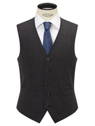 Chester Barrie By Semi Plain Wool Slim Fit Waistcoat Grey