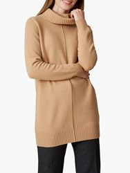Jaeger Funnel Neck Wool Jumper Camel