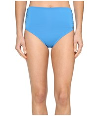 Vince Camuto Fiji Solids Convertible High Waist Bikini Bottom Misty Blue Women's Swimwear