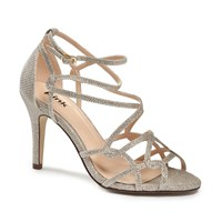 Paradox London Pink Robyn Strappy Heeled Sandals Champagne