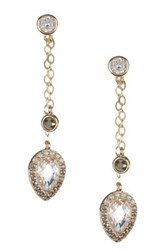 Judith Jack Gold Plated Sterling Silver Crystal And Swarovski Marcasite Dangle Earrings Metallic