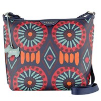 Radley Summer Tribes Across Body Bag Navy