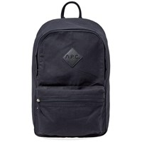 A.P.C. Sadie Canvas Logo Backpack Blue
