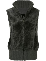 Chanel Vintage Cc Sports Line Reversible Sleeveless Vest Jacket Grey