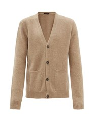 The Gigi Justin Wool Blend Knitted Cardigan Beige