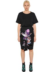 Maison Martin Margiela Cats Archive Print Cotton T Shirt Dress