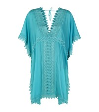 Charo Ruiz Short Embroidered Kaftan Female Green