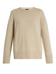 The Row Sibel Wool And Cashmere Blend Sweater Light Beige