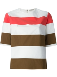 Etro Striped T Shirt Blouse Brown