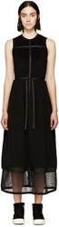 Denis Gagnon Black Wool And Mesh Sleeveless Dress