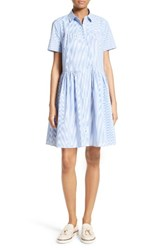 Kate Spade Women's New York Stripe Poplin Swing Shirtdress