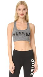 Spiritual Gangster Warrior Sports Bra Heather Grey