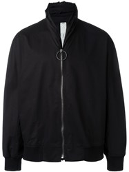 Damir Doma Roll Neck Zip Up Jacket Black