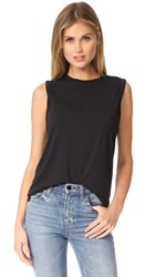 David Lerner Crew Neck Rolled Muscle Tee Classic Black