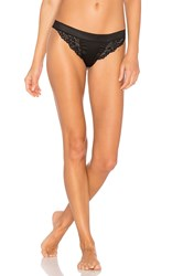 Else Lilly Silk And Lace Thong Black