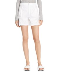 Vince High Waist Pleated Shorts White