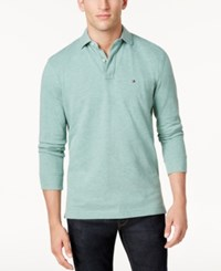Tommy Hilfiger Men's Long Sleeve Classic Fit Polo June Bug Heather