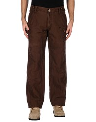 Frankie Morello Trousers Casual Trousers Men Dark Brown