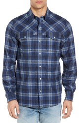 Ibex Men's 'Taos' Plaid Wool Blend Sport Shirt Northern Sea Plaid