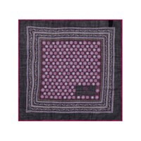 Chester Barrie Patterned Pocket Square Aubergine