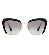 Miu Miu Embossed Sunglasses Black