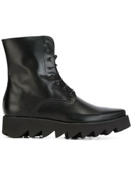 Swear Lace Up Boots Black