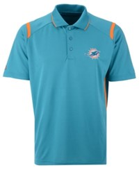 Antigua Miami Dolphins Merit Polo Aqua Orange