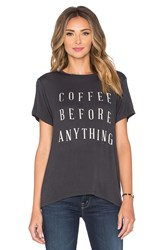 Daydreamer Coffee Before Anything Tee Charcoal