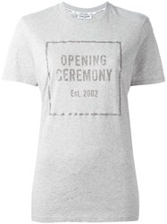 Opening Ceremony Logo Print T Shirt Grey