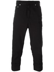 Neil Barrett Cuffed Straight Jeans Black
