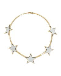 Givenchy Hinged Brass Star Collar Necklace Gold