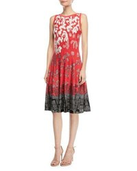 Nic Zoe Terrace Twirl Sleeveless A Line Dress Multi