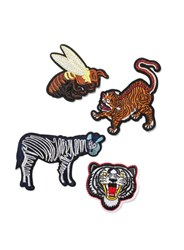 Topman Multi Animal Iron On Badge Set