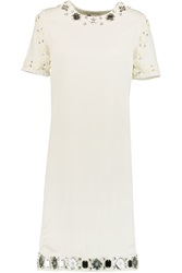 Lanvin Embroidered Silk And Cotton Dress