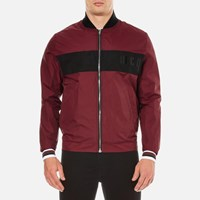 Mcq By Alexander Mcqueen Men's Windbreaker Jacket Port Burgundy