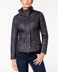 Barbour Flyweight Cavalry Quilted Coat Navy