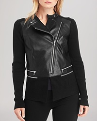 Kenneth Cole New York Reilly Faux Leather Jacket Black