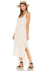 Heather Linen Hi Lo Tank Dress Beige