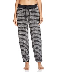 Pj Salvage Cozy Striped Pants Charcoal