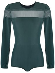 Giuliana Romanno Panelled Body Green